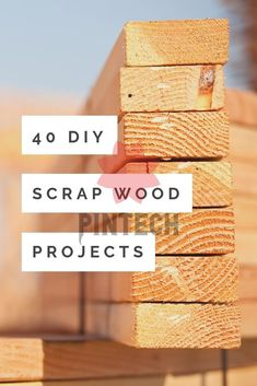 40 DIY Scrap Wood Projects You Can Make Make these DIY scrap wood projects with those small pieces leftover from your larger projects! 40 ideas to get your creativity flowing! #scr Wood Shop Projects, Small Wood Projects, House Projects, Woodworking Bench Plans, Easy Woodworking Projects, Woodworking Tools, Woodworking Magazines, Youtube Woodworking, Woodworking Fasteners