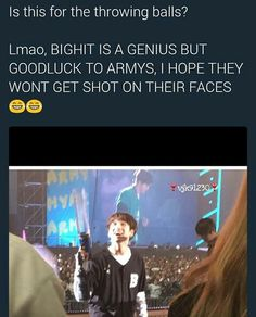 Giving the golden maknae a weapon is maybe not the best idea bighit ever had xD (.. Givin it to Namjoon would be even worse tbh xD)