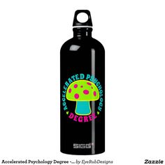 Accelerated Psychology Degree - Psychedelics, Glow SIGG Traveler 1.0L Water Bottle for Responsible Users of Psychedelic Plants, Psilocybin and Magic Mushrooms Enthusiasts - #psychedelic #mushrooms #magicmushrooms #hallucinogen #shaman #shrooms #fungi #shrooming #trippy #psilocybin #mushroomhunting #mycelium #mycology