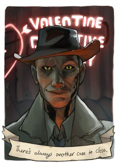 Video Game Logic, Video Games, Fallout 4 Nick Valentine, Valentines Tumblr, Fallout 4 Companions, Fallout Fan Art, Fallout Funny, Fall Out 4, Fallout New Vegas