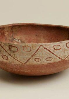 Escudilla de patrón zigzag Paola Gonzalez, Terracota, Inca, Clay, Painted Birds, Mud, Norte, Slanted Walls, Vaulting