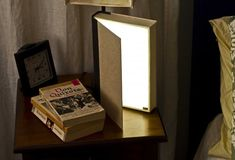 How To: Make a Reading Lamp from a Recycled Book | Man Made DIY | Crafts for Men | Keywords: recycle, bedroom, diy, how-to