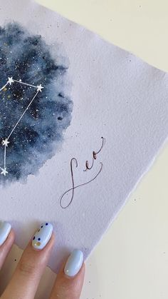 Zodiac Art, Zodiac Signs, Handmade Birthday Cards, Birthday Gifts, Leo Constellation, Art N Craft, Diy Canvas Art, Meaningful Gifts, Painted Signs