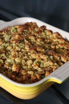 7-ingredient cornbread and bacon dressing for a breezy Thanksgiving side dish