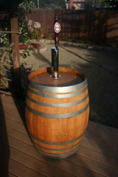 Wine Barrel Portable Beer Dispenser Kegerator Jockey Box. $550.00, via Etsy.
