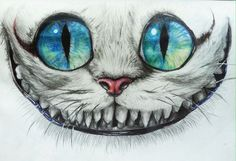 easy drawing of cheshire cat face - Google Search: