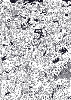 Doodle : Monsta invasion by RedStar94.deviantart.com on @deviantART