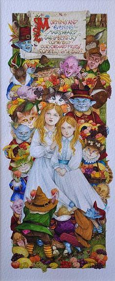 The Goblin Market by Debby Faulkner-Stevens http://www.bwthornton.co.uk/debby-faulkner-stevens.php