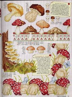 mushrooms cross stitch 2