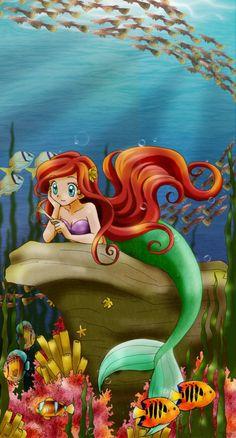 Ariel Anime style - by *chikorita85 deviant art