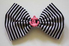 Burlesque Rockabilly Style Hair Bow with by MyStitchandKitsch, £4.99