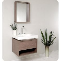 "Fresca Potenza 27"" Modern Single Sink Bathroom Vanity FVN8070GO at DiscountBathroomVanities.com"