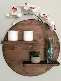 17 Remarkable DIY Round Shelf Designs To Adorn Your Empty Walls is part of Diy wall decor - Minimalism is rightly extremely popular style in interior, especially if you consider the simplicity and purity while decorative elements that we have Shelf Design, Diy Design, Foyer Design, Interior Design, Wood Design, Design Ideas, Home Decor Accessories, Decorative Accessories, Diy Wall Decor