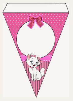 Mini Kit Personalizado Gatinha Marie para imprimir | Minis