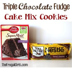 1 box Betty Crocker Triple Chocolate Fudge Cake Mix {15.25 oz.} 1/2 cup Vegetable or Canola Oil 2 eggs 1 cup Nestle Toll House Semi-Sweet Chocolate Chips