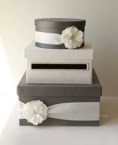 wedding card box gift card box money holder with the rhinestones around the card slot choose your own colors