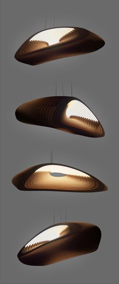 Plywood lamp on Behance