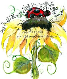 Lady Bug and the Sunflower