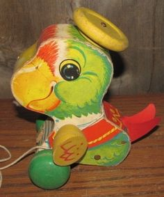 1963 Fisher Price Parrot Pull Toy