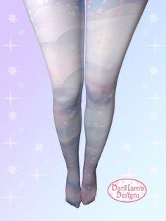 24792bea0f4fc Pastel Galaxy Tights Fairy Kei Space Kawaii Pastel Stockings Lolita Pastel  Galaxy Stars universe Siz