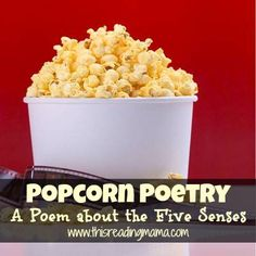 Popcorn Poetry-A Poem about the Five Senses {This Reading Mama}