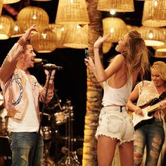 """She's with the band! Martha and Nick. #vsswim2016 @nickjonas @marhunt #vsswim2016 CBS Weds @9 pm"""