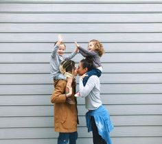 LGBT families come in all shapes and sizes, each with a unique story to share. Lesbian Family Photos, Family Photo Outfits, Lesbian Moms, Cute Lesbian Couples, All In The Family, Family Love, Family Goals, Couple Goals, Jean Ferrat