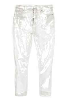 Remember when Topshop released those partly-plastic jeans? Well, they've just released some more clear Jeans - but this time, it's. Moto Jeans, Cropped Jeans, Jeans Pants, Jeans Sequins, Sequin Jeans, Clear Jeans, Pvc Transparent, Cut Out Jeans, Oversized Jeans