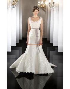 Robe de marie 2014 satin dentelle avec ruban