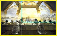 Purchased in 1956 by the National Gallery of Art in Washington, The Sacrament of the Last Supper, an oil painting by Salvador Dal; was painted after Dali embraced Catholicism. Salvador Dali Oeuvre, Salvador Dali Kunst, Salvador Dali Paintings, Dali Prints, Arte Pop Up, Les Religions, Spanish Artists, Last Supper, National Gallery Of Art