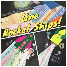 The Artsy Fartsy Art Room: Shooting Line Rocket Ships (15'-16')