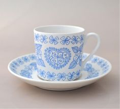Boro kaffekopp av Stig Lindberg, Gustavsberg Stig Lindberg, Boro, Kettles, Ceramic Design, Second Hand, Tea Cups, Ceramics, Mugs, Tableware