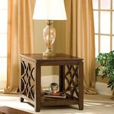 Found it at Wayfair - Woodmont End Table in Brown Cherry