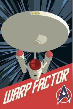 Star Trek, Retro, poster, warp factor