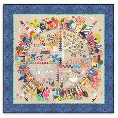 New! Round the Garden Customized Quilt Kit! Linen & Wool Felt. Free US Shipping! by Wendy Williams