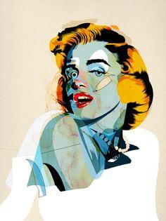 Alvaro Tapia Hidalgo, illustration and graphic design studio based in Chile Illustration Pop Art, Illustrations, Marilyn Monroe Art, Gcse Art, Fashion Painting, Modern Artwork, Photo Art, Street Art, Art Prints