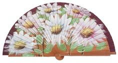 Abanico madera peral pintado a mano / Wooden hand fan handpainted #abanico…