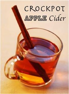Crock pot Apple Cider!!! Love this holiday treat