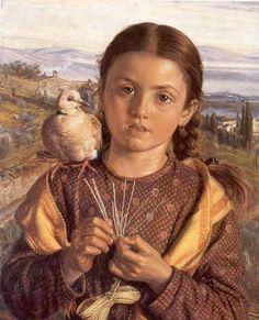william holman hunt...tuscan girl...1869