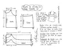 Top con hombros abiertos. Patrón para tamaños de 36 a 50 (costura y corte) - Revista Inspiración de la costura