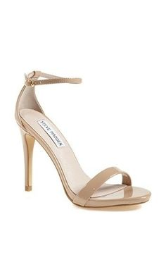 Spring 2014 Trend: Ankle Strap Steve Madden 'Stecy' Sandal available at Nordstrom Nude Sandals, Nude Heels, High Heels, Shoes Heels, Sandals 2014, Neon Shoes, Women Sandals, Strap Sandals, Leather Sandals