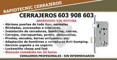 Cerrajeros de Barrio Santa Engracia, Badajoz técnicos especializados en aperturas sin rotura de puertas en domicilios y comercios. Insta...