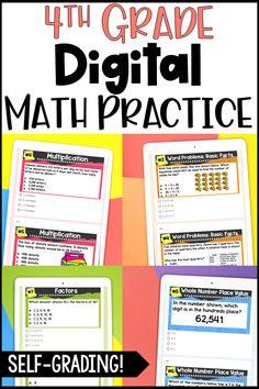 Math Resources, Math Activities, Fifth Grade Math, Fourth Grade, Virtual Reality Education, 4th Grade Classroom, Classroom Ideas, Fraction Word Problems, Math Work