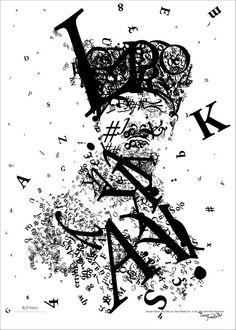 tipografik atatürk portresi...  www.baykus.in