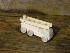 Wood Toy Firetruck Wooden Toys Handmade Fire by OutOnALimbADK