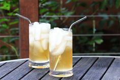 Homemade Ginger Ale - love the idea of using whole spices to make the syrup / sub honey for sugars