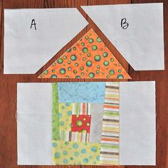 The Noble Wife: Wonky House Quilt Block Tutorial House Quilt Patterns, House Quilt Block, House Quilts, Paper Piecing Patterns, Quilt Block Patterns, Pattern Blocks, Quilt Blocks, Applique Patterns, Doll Patterns