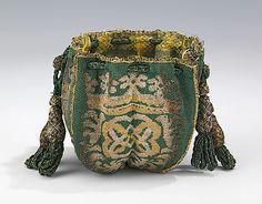 Pouch Date: fourth quarter 17th century Culture: European Medium: silk, metal Accession Number: 2009.300.2077