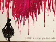 """Cinderella- Rags to Riches melted crayon art  """"A dream is a wish your heart makes"""""""