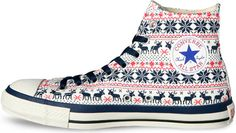 Converse-All-Star-Nordic-Sweater red